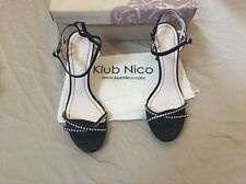 Klub Nico Womens Asia Dress Backstrap Sandal Black Size 9 M US