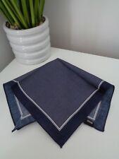 HUGO BOSS Navy White Dot Cotton Pocket Square Handkerchief Hankie