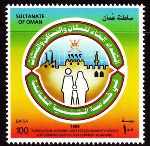 Oman 1993 ** Mi.366 Volkszählung Population Census Familie Family Industry