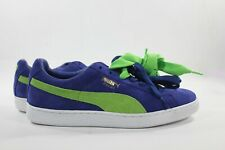 NEw Men's PUMA Size 11 Suede Classic+ Shoes 356568-58 Blue Green