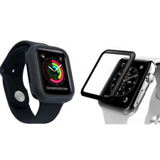 For Apple Watch Series 4 5 TPU Bumper Case+iWatch Screen Protector Cover 40/44mm