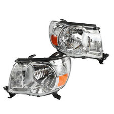 For 2005-2011 Toyota Tacoma Factory Style Headlights Headlamps LH & RH Chrome