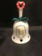 Vintage Precious Moments Bell Holiday You Decorate My Life Euc Heart Boy Girl