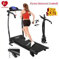 Folding Treadmill Motorised Running Machine Incline Electric Power Fitness GYM .