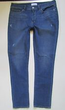 YUMMIE Heather Thompson Straight Leg Distressed Jean Rugged Medium Wash, Size 34