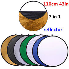 """CY 43"""" 110cm 7 in 1 Portable Collapsible Light Reflector Studio Multi Photo Disc"""