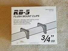 """Radiant Heating RB-5 FLUSH MOUNT 100 Clips Fasteners 3/4"""" Pipes Wire Bundles NEW"""