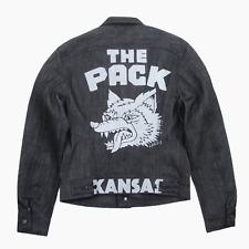 Lee 101 The Pack Rider Black 17oz Selvedge Denim Jacket Mens M Medium BNWT New