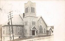 <A15> MAINE Me Real Photo RPPC Postcard c1910 BREWER Baptist Chuch Building
