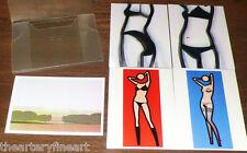 JULIAN OPIE 'Art Cards', 2006 Set 5 Lenticular 3-D Motion Art Postcards **NEW**