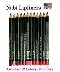 12 PCs Nabi Lipliner Set - Red, Pink, Natural, Burgundy & Brown *US SELLER*