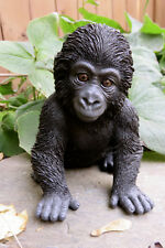 "GORILLA BABY FIGURINE STATUE RESIN PET 5.5""H Jungle Animal Ornament New Ape"