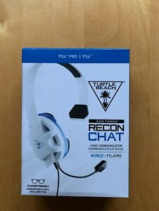 Turtle Beach Recon Chat Headset Mic - PS4 PlayStation 4 White New