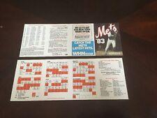 Lot Of (2) 1983 New York Mets Pocket Schedule