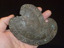 ANGLO-Saxon Bronzo Antico Artefatto-ELMETTO/Armour APPLIQUE intorno al 600-800 D.C.