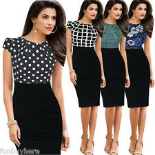 Ladies Womens Elegant Wear To Work Office Cocktail Party Evening Pencil Dress