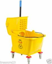 36 Quart Commercial Wet Mop Bucket & Wringer Combo Yellow  NEW