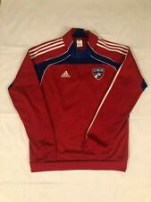 FC Dallas MLS Soccer Adult Large Red Adidas Training Pullover Jersey