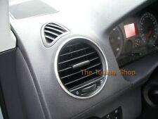 Para VW Caddy 2003-2010 respiraderos de aire de aluminio rodea anillos de cromo x 4 Nuevo