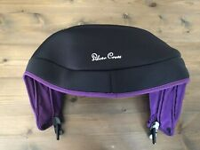 SILVER CROSS SIMPLICITY BABY CAR SEAT REPLACEMENT SPARE HOOD ONLY BLACK/ PURPLE