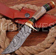 8 INCH UD CUSTOM DAMASCUS STEEL HUNTER KNIFE Stag/ANTLER  HANDLE B9-11562
