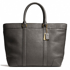 NWT Coach Bleecker Pebbled Leather Legacy Weekend Tote Granite F71068
