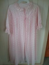 Vintage Double Layer Pink Lace Robe