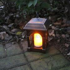 Solar Candle Lantern Waterproof Hanging Lamp Outdoor Garden Patio Decor Light Us