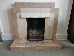 1930s Art Deco tile Fire Surround & hearth / fireplace