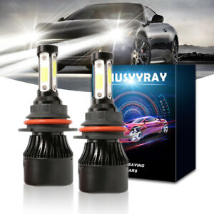 9007 4-sides LED Headlight Hi/Lo Bulbs 6000K for Dodge Neon 1995-2005
