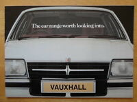 VAUXHALL RANGE 1980-81 UK Mkt Brochure  Royale Viceroy Carlton Chevette Cavalier