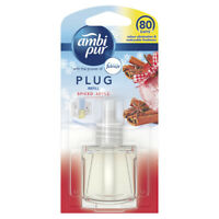 3 x AMBI PUR PLUG IN AIR FRESHNER Choose from Spiced apple/Thai Orchid/