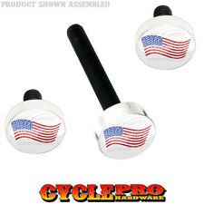 Windshield Bolt Kit for 14-Up Harley Electra & Street USA FLAG ON WHITE - 166