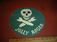 WWII USAAF THE JOLLY ROGERS 321 BOMB SQDN 90BG  5 TH AAF    FLIGHT JACKET PATCH