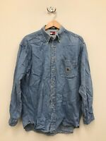 Vintage 90s Men's Tommy Hilfiger Denim Jean Shirt - Size Medium