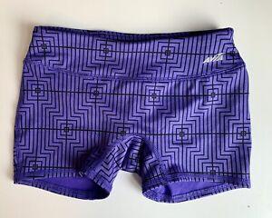 Avia Girls Youth Medium M 7-8 purple black Fitted Running Athletic Shorts