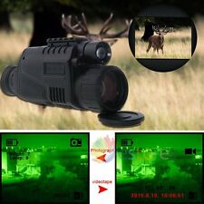 Tactical Infrared Night Vision Monocular Scope 200m 5X40 Zoom Record DVR Pics【UK