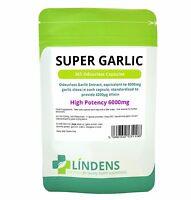 Super Strength Garlic 6000mg; Odourless 365 capsules oil softgels Lindens