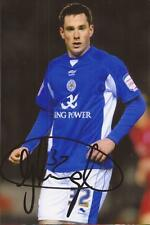 LEICESTER: GREG CUNNINGHAM SIGNED 6x4 ACTION PHOTO+COA