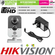 HIKVISION 4mm 3MP 2MP 1080P WIRELESS WIFI SENSORE PIR MICROFONO IP Security telecamera cubo