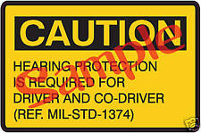 Military M35A2, Kaiser, AMG, Gama Goat M746 M911 M123  Hearing Caution - New