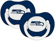 Seattle Seahawks Pacifiers 2 Pack Set Infant Baby Fanatic BPA Free NFL