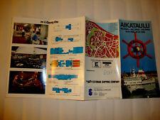 CROISIERES AIKATAULU HELSINKI TALLINNA PAQUEBOT m/s Georg Ots  DECK PLAN 1989