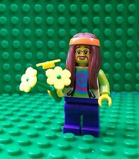 Lego Hippie Figure Minifigures Flower Power Hippy City Town 8831 Series 7
