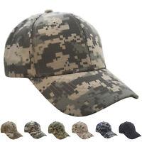 Baseball Cap Cotton Dad Hat Mens Tactical Army Camo Military Strapback Visor