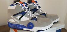 New Reebok ERS omni lite Pump basketball boots White Grey Blue. UK 11 US 12