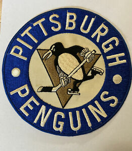 "True Vintage Retro NHL Hockey Pittsburgh Penguins Jersey Patch Crest Logo 7.75"""