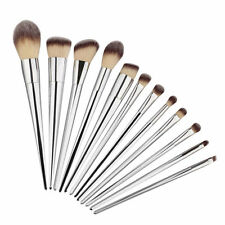 12x Silver Makeup Brushes Set Cosmetic Foundation Eyeshadow Blush Powder Brush