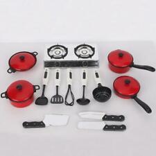 13pcs Pots Pans Kitchen Cookware Saucepan Set For Kids Pretend Play Cookware Toy