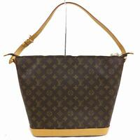 Authentic Louis Vuitton Shoulder Bag Amfarthree M47275 Browns Monogram 1300689